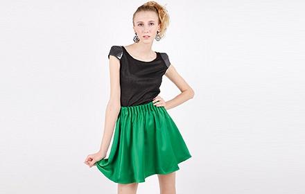 自然褶裙的设计图