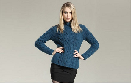 女士羊绒毛衣手工编织