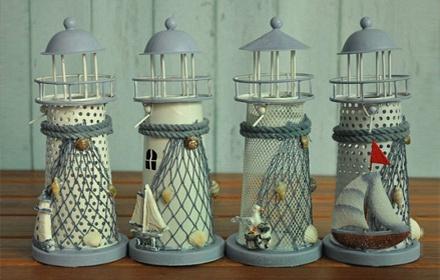 乐高家居 地中海灯塔式烛台