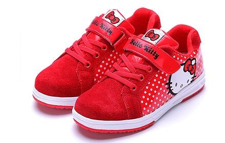 凯蒂猫女童运动鞋红色