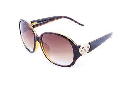 玳瑁极简圆框时尚太阳镜