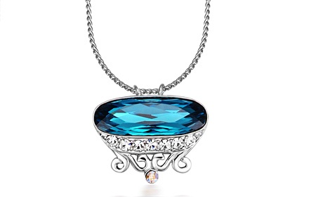 olylove 皇冠水晶项链