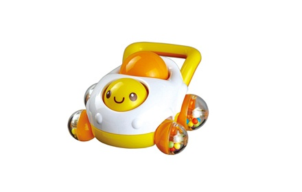 """可爱的笑脸可以转动,按压后面的小圆球有""""吱吱""""声"""