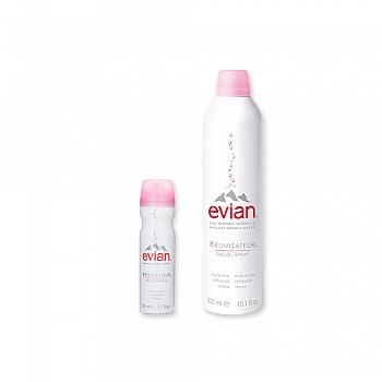 法国•依云 (Evian)天然矿泉水喷雾套装 300ml+50ml(新)