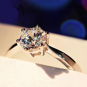 Mbox戒指女925银钻石奇缘