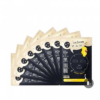 中国台湾•我的心机纳豆保湿水润黑面膜25gX8