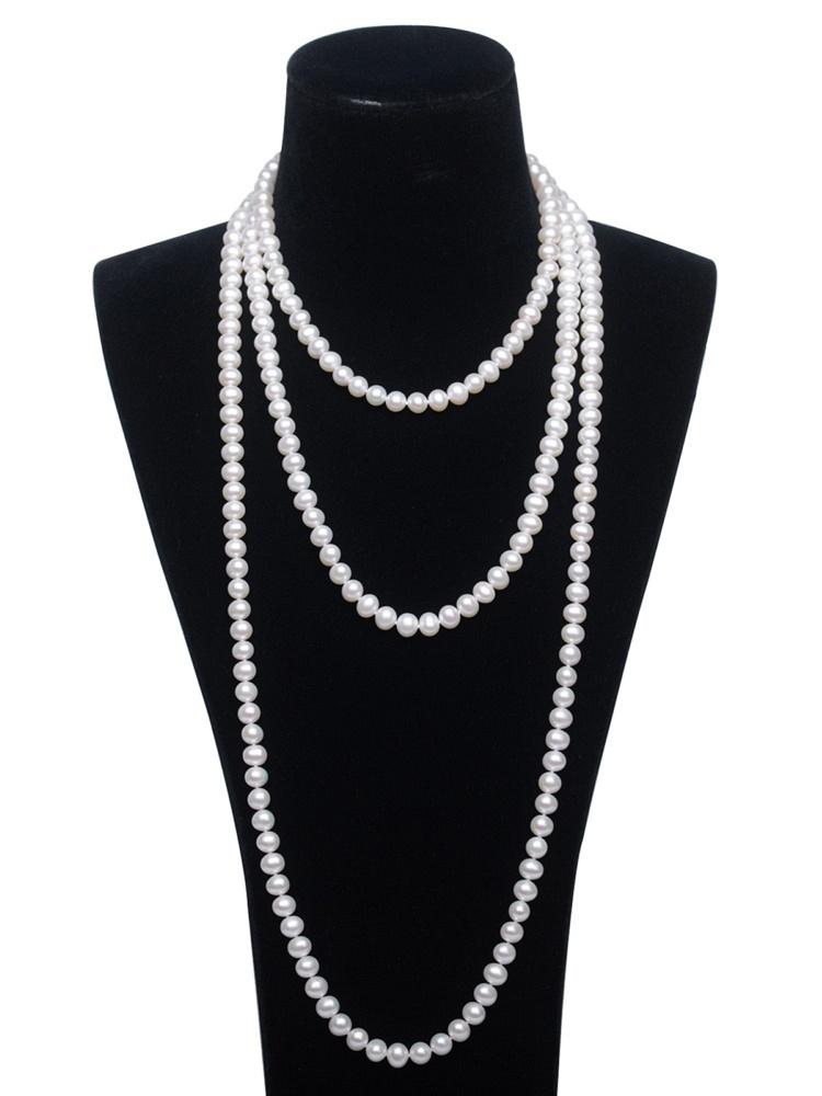 花珠6mm珍珠毛衣链160cm
