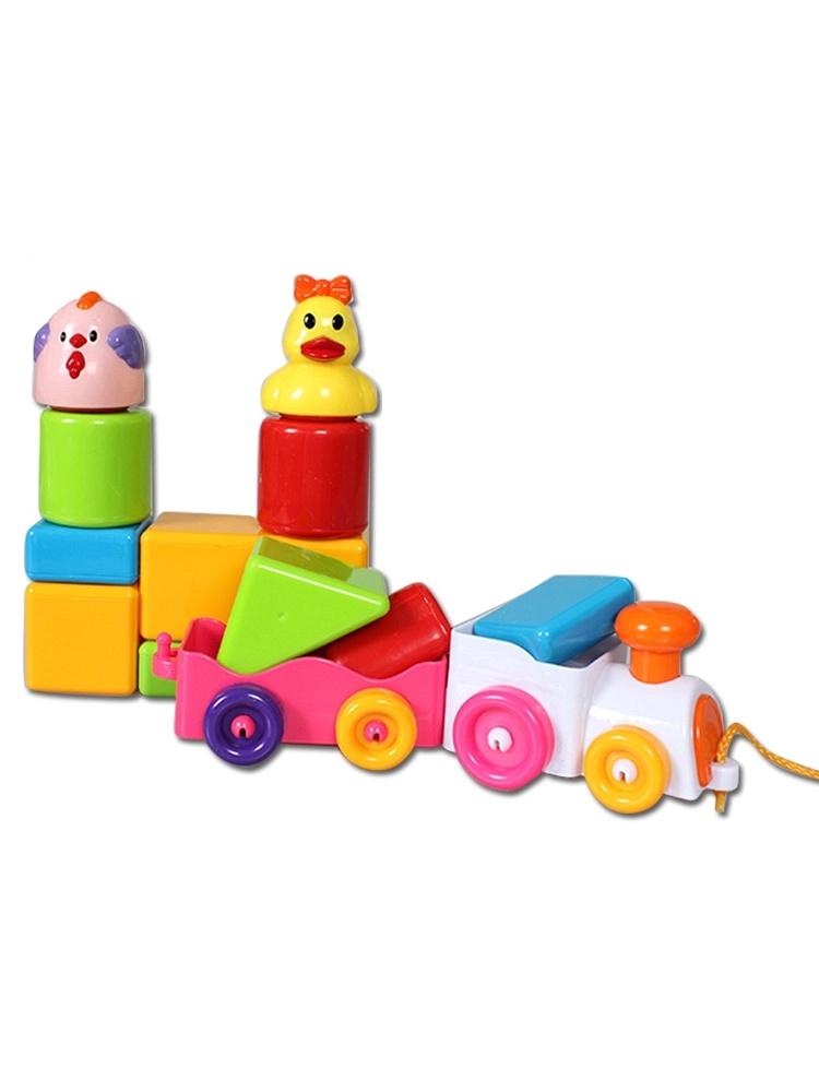 幼儿几何图形拼贴画小火车