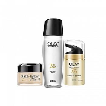 美国•玉兰油 (OLAY)护肤套装(多效修护霜 50g+多效修护眼霜 15g+多效修护醒肤水 150ml)