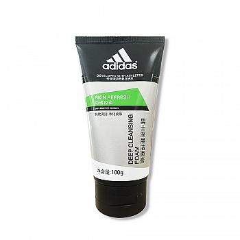 阿迪达斯 (Adidas)男士劲透控油 深层洁面膏 100g