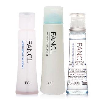 FANCL水盈水润套装(水盈乳液30ml+水盈补湿液30ml+柔滑洁面粉50g)
