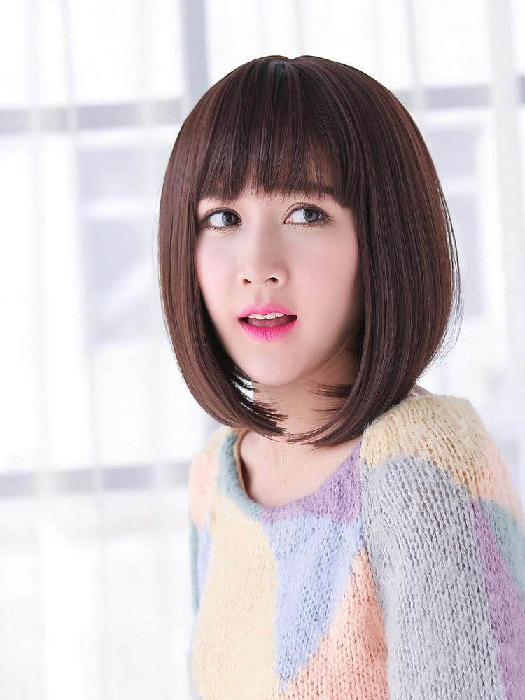 桃厘丝 优雅韩系空气感薄刘海清新短发 韩味十足!