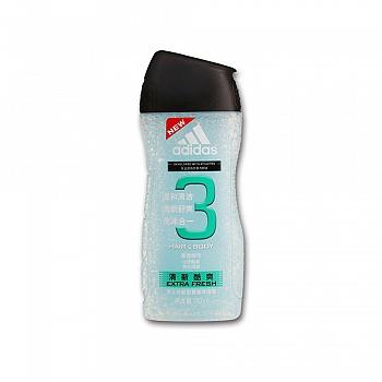阿迪达斯 (Adidas)男士功能型香波沐浴露—清新酷爽   250ml