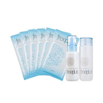 日本•芙丽芳丝(freeplus)保湿修护套装(乳液100ml+化妆水130ml+面膜27ml*6)