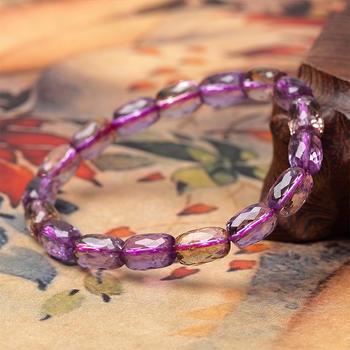 阿梵尼 紫水晶切面手链6mm
