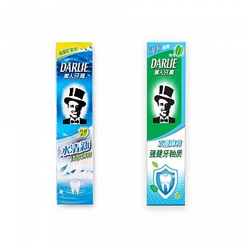 黑人(DARLIE)summer清泉薄荷 水清新90g+双重薄荷强健牙釉质牙膏120g(原味温和随机发放)