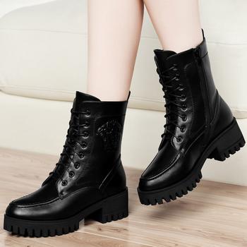 秋冬季短靴?#25351;?#39532;丁靴中跟女鞋