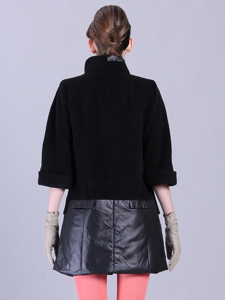 毛料拼接长版正品大衣-聚美优品-最大材质化广州学ui设计师图片
