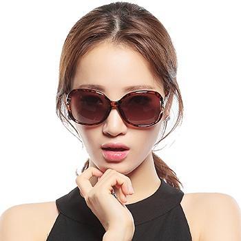 三氏女款时尚偏光太阳镜8510豹纹