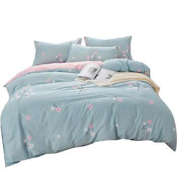 荻嘉茂 全棉斜纹床单被套四件套 枕花眠