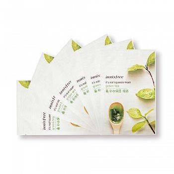 韩国•悦诗风吟(innisfree)真萃鲜润面膜-绿茶 6片