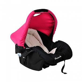 Pouch新生儿提篮式安全座椅Q07玫红