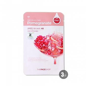韩国•菲诗小铺(The Face Shop)自然之源面膜-红石榴23g*3