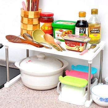 悠家良品可叠加单层厨卫沥水架
