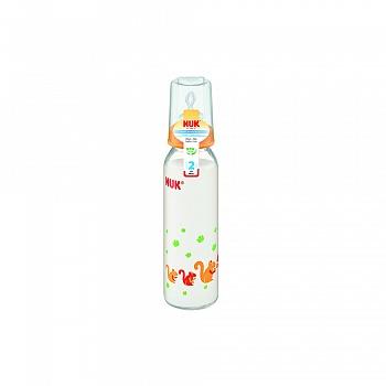 德国•NUK230ml耐高温一般口径玻璃奶瓶(成长型硅胶中圆孔)