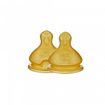 德国•NUK宽口乳胶奶嘴(十字孔,适合0-6个月婴儿用)