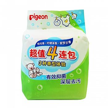 贝亲超值4连包洗衣皂三种香型体验120g*4PL332
