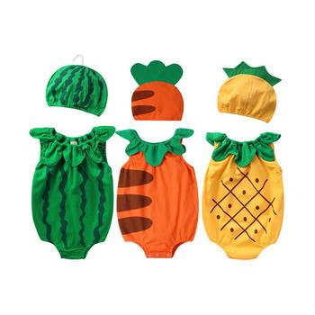 Augelute夏季宝宝水果造型三角哈衣帽子