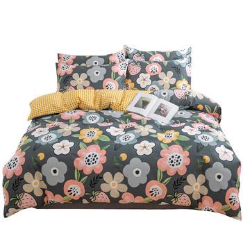 荻嘉茂 全棉斜纹床单被套四件套 百花寻莓 多花型
