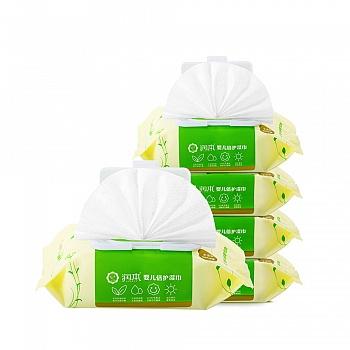 中国•润本Runben 婴儿倍护湿巾(有盖)80片*5包