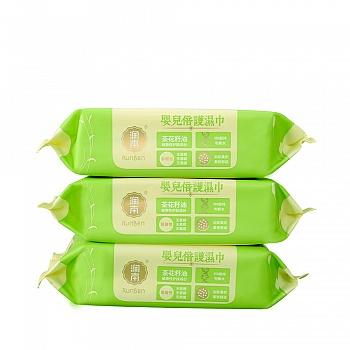 中国•润本Runben 婴儿倍护湿巾(无盖)80片*3包