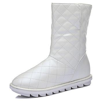 内增高防滑中筒靴加?#34183;?#26262;棉鞋