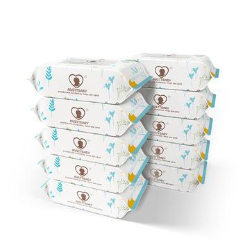 澳斯贝贝 新版婴儿手口湿巾 30抽*10包