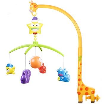 中国?爱亲亲婴儿0-1岁摇铃星星旋转床铃