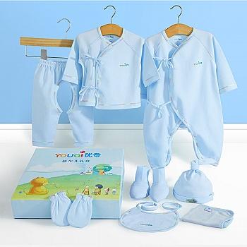 中国•优奇纯棉8件套四季新生儿礼盒
