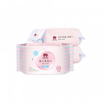 中国•红色小象屁屁专用婴儿柔湿巾80P*3