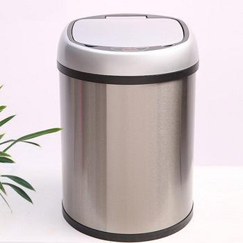 亿珊智能感应不锈钢垃圾桶8L
