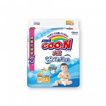 日本•GOO.N® 大王环贴式纸尿裤 维E系列 M84片 电商专供