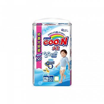 日本•GOO.N® 大王 男宝宝用 短裤式纸尿裤 XL50片 电商专供