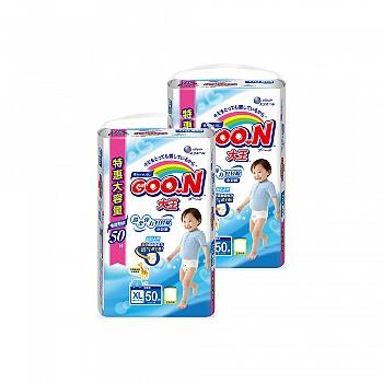 日本•GOO.N® 大王 男宝宝用 短裤式纸尿裤 XL50片 电商专供*2包