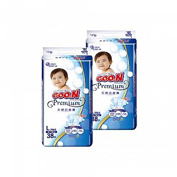 日本•GOO.N®大王 环贴式纸尿裤 天使系列L38片*2包