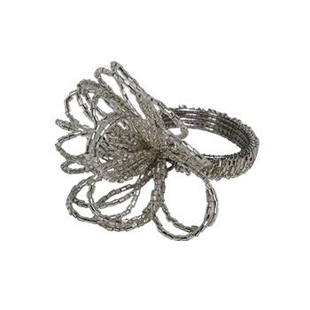 中国•银色花形餐巾扣