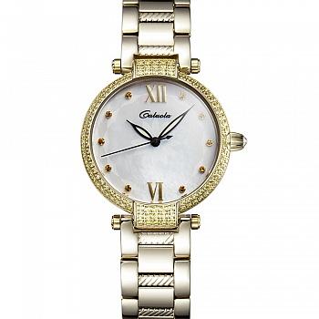 中国•卡罗莱镶钻时装休闲钢带石英女表