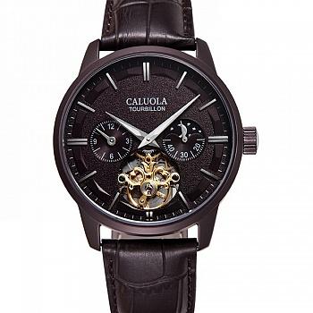 中国•卡罗莱自动机械表镂空皮带男手表