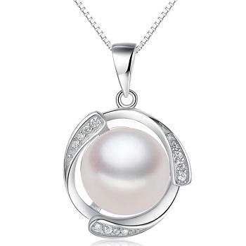 漂亮百合 925银珍珠吊坠 追逐爱情