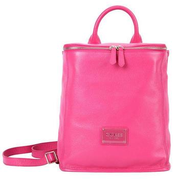 GUESS简约型糖果色双肩背包粉红色